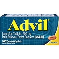 Advil Coated Caplets Pain Reliever and Fever Reducer, Ibuprofen 200mg, 100 Count...