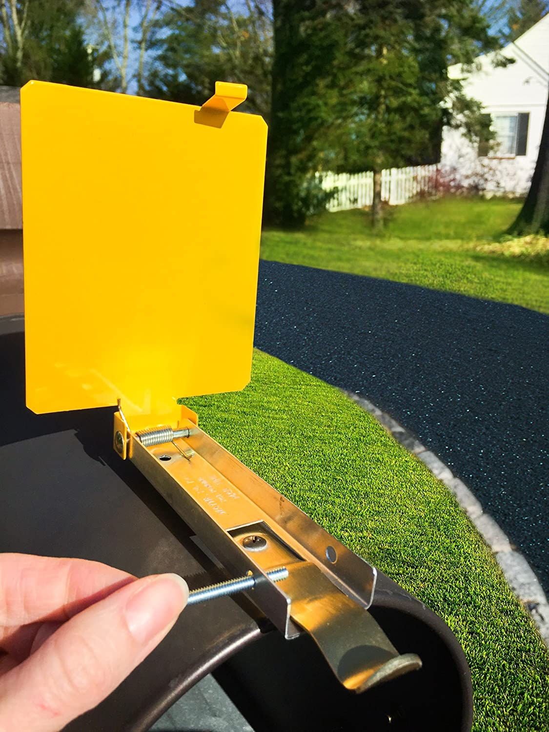 Amazon.com: Mail Time! Yellow Mailbox Alert Signal Flag for Long ...