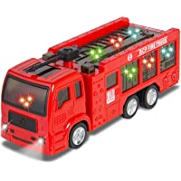 Best Choice Products Fire Truck Electric Flashing Lights Kids