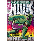 Silver Buffalo MV6371 Marvel Hulk Battles The Inhumans 3-D Wood Wall Art, 13 x 19 inches
