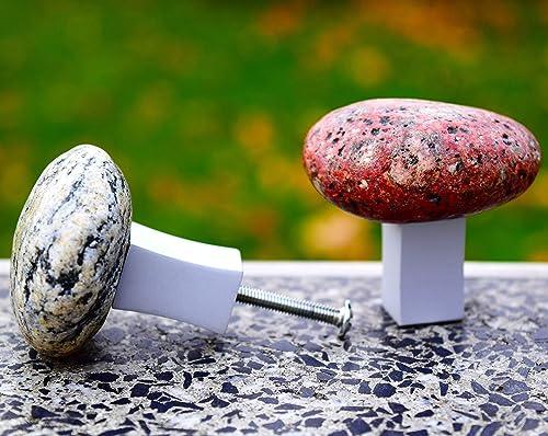 Stone Rock Cabinet Door Drawer Furniture Knob Pull NEW