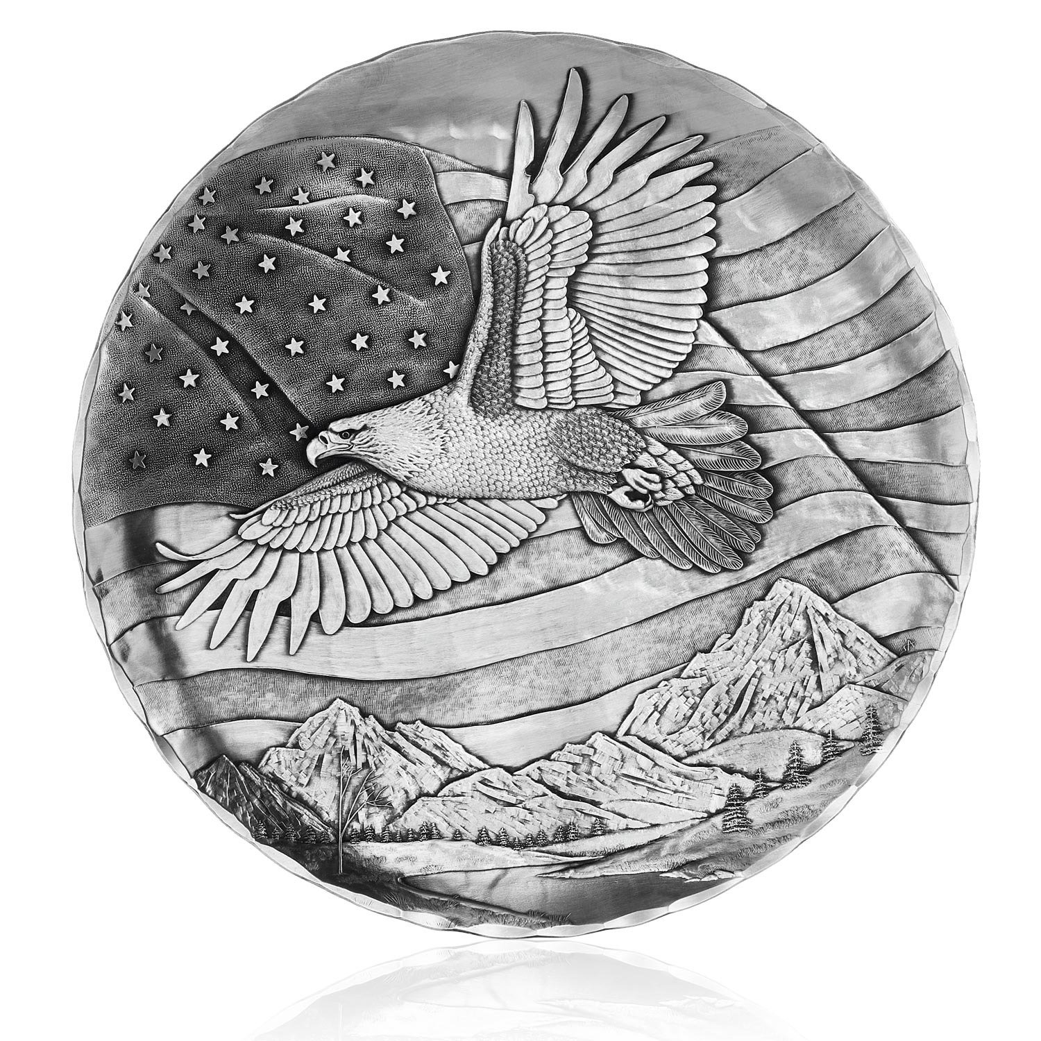 Wendell August Stars and Stripes Plate, 9-Inch