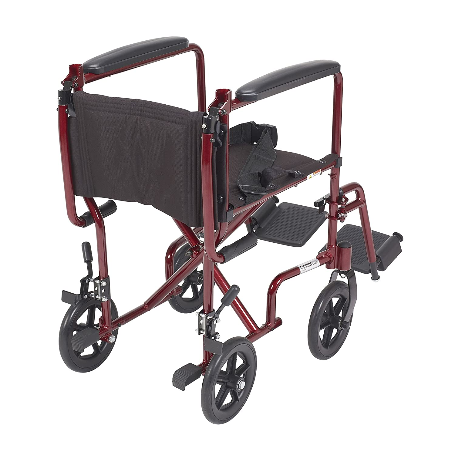 Transport chair amazon - Amazon Com Drive Medical Deluxe Lightweight Aluminum Transport Wheelchair Red 17 Health Personal Care