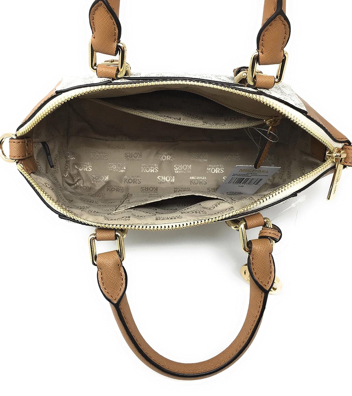 3209970960a2 Amazon.com  Michael Kors Ciara Medium Messenger Bag (Vanilla   Acorn)  Shoes