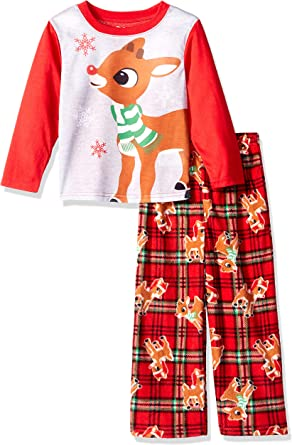Christmas Baby Childs Younger Boys Cute Rudolf Red Nose Reindeer Novelty Top
