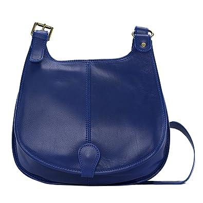 OH MY BAG Sac à main bandoulière porté de travers CUIR souple femme Modèle M bleu roi Soldes NqNTxW0