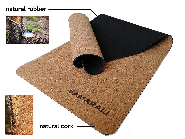 Samarali Colchoneta de Yoga Natural Cork y Natural Rubber ...