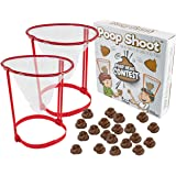 Fairly Odd Novelties Poop Shoot! Head Hoop Contest! The Hilarious White Elephant Gag Gift for Poop Emoji Enthusiasts…