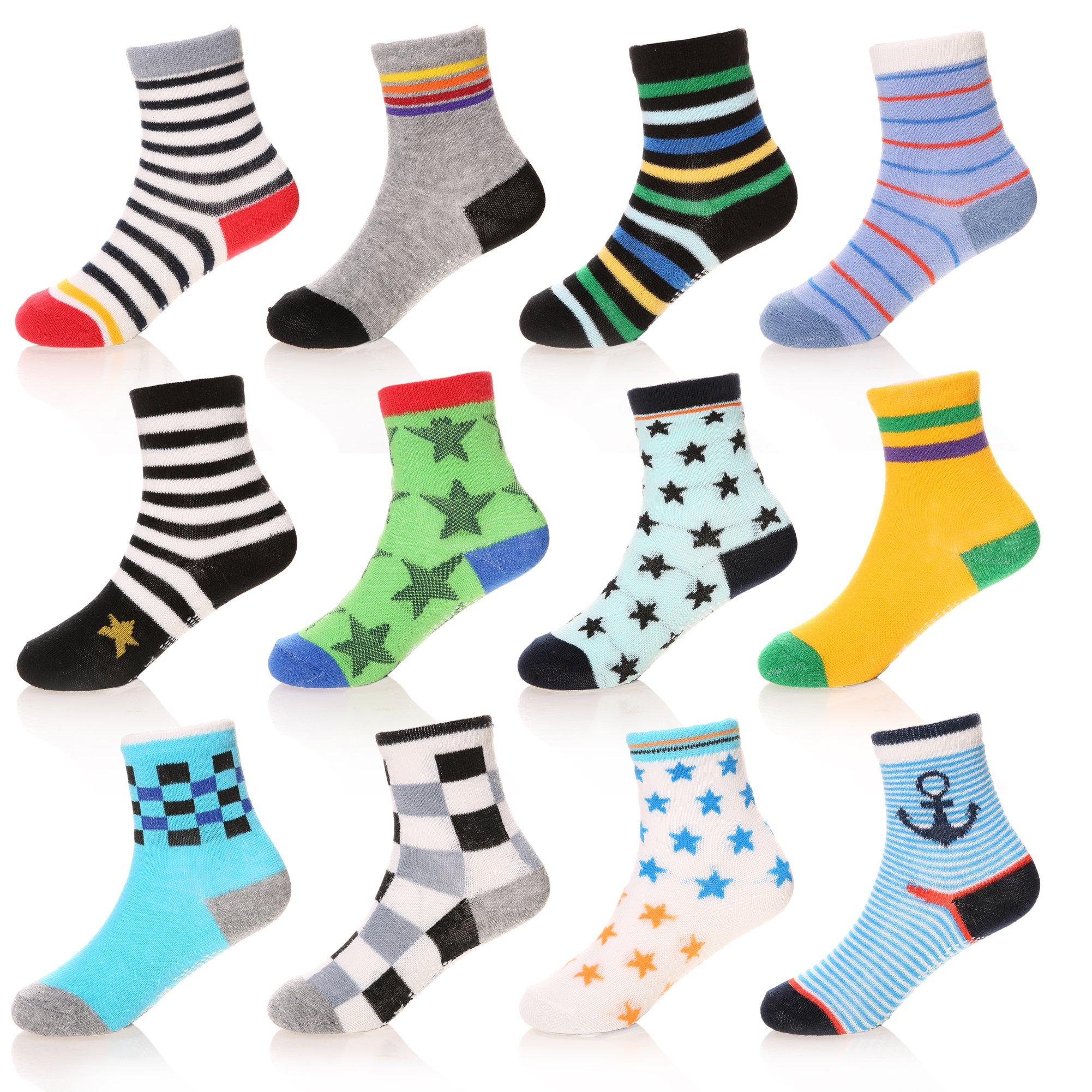 SDBING Baby's Cute 12-pair Thick Warm Cotton Socks (Anti-slip 1 to 3 Years Old) (12 Pair B04)