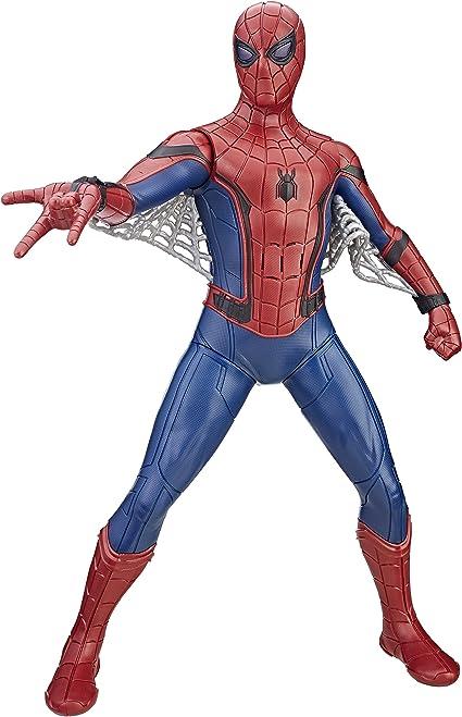 Spider Man Boneco Figura De Acao Homem Aranha Eletronico Vermelho