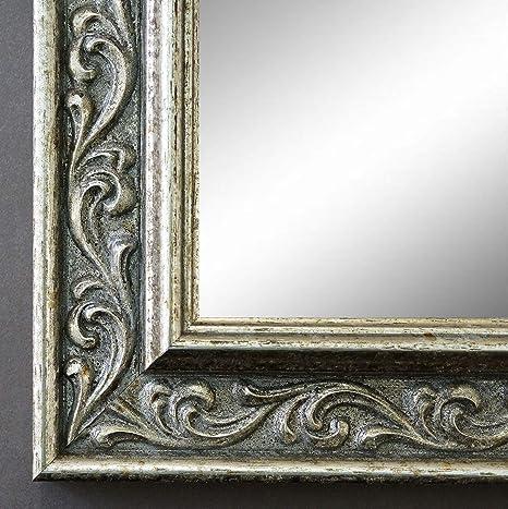 Massiv Alle Gr/ö/ßen Antik Online Galerie Bingold Spiegel Wandspiegel Silber DIN A0 Holz 84,1 x 118,9 cm - Barock Verona AM Vintage Landhaus