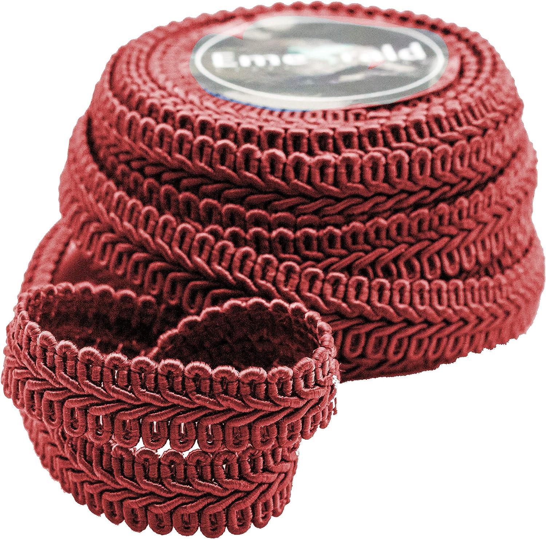 10 Yards 3//8 Inch, Light Pink Gimp Braid Woven Ornamental Trim