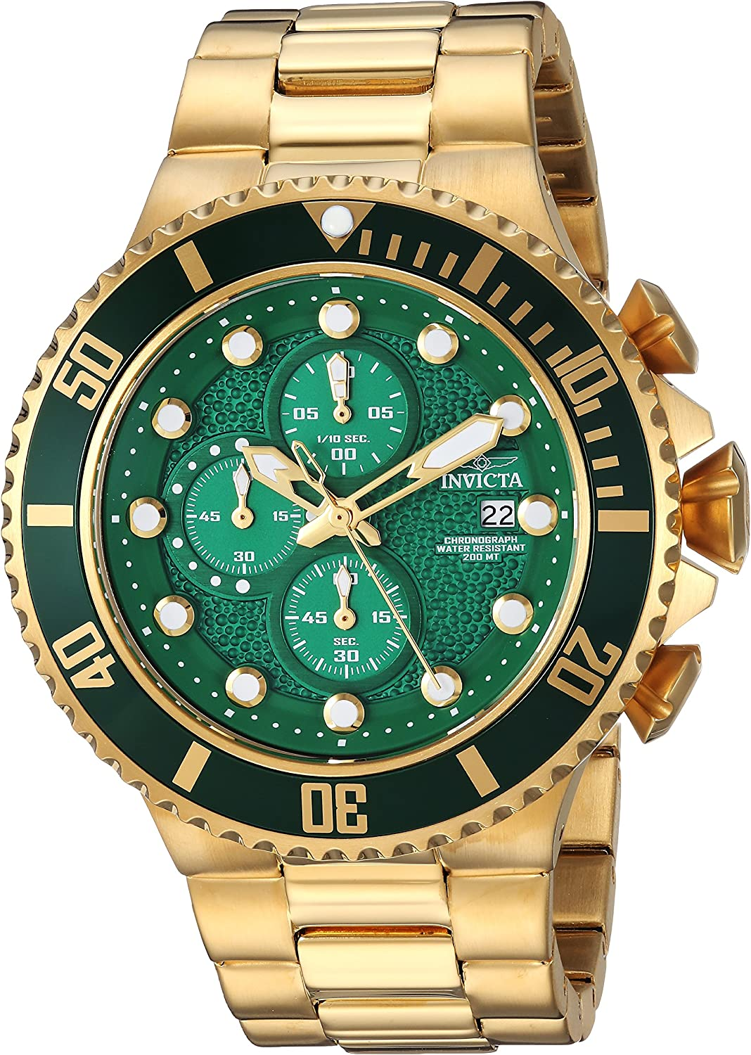 Invicta Men s Pro Diver Quartz Diving Watch with Stainless-Steel Strap, Gold, 26 Model 25299