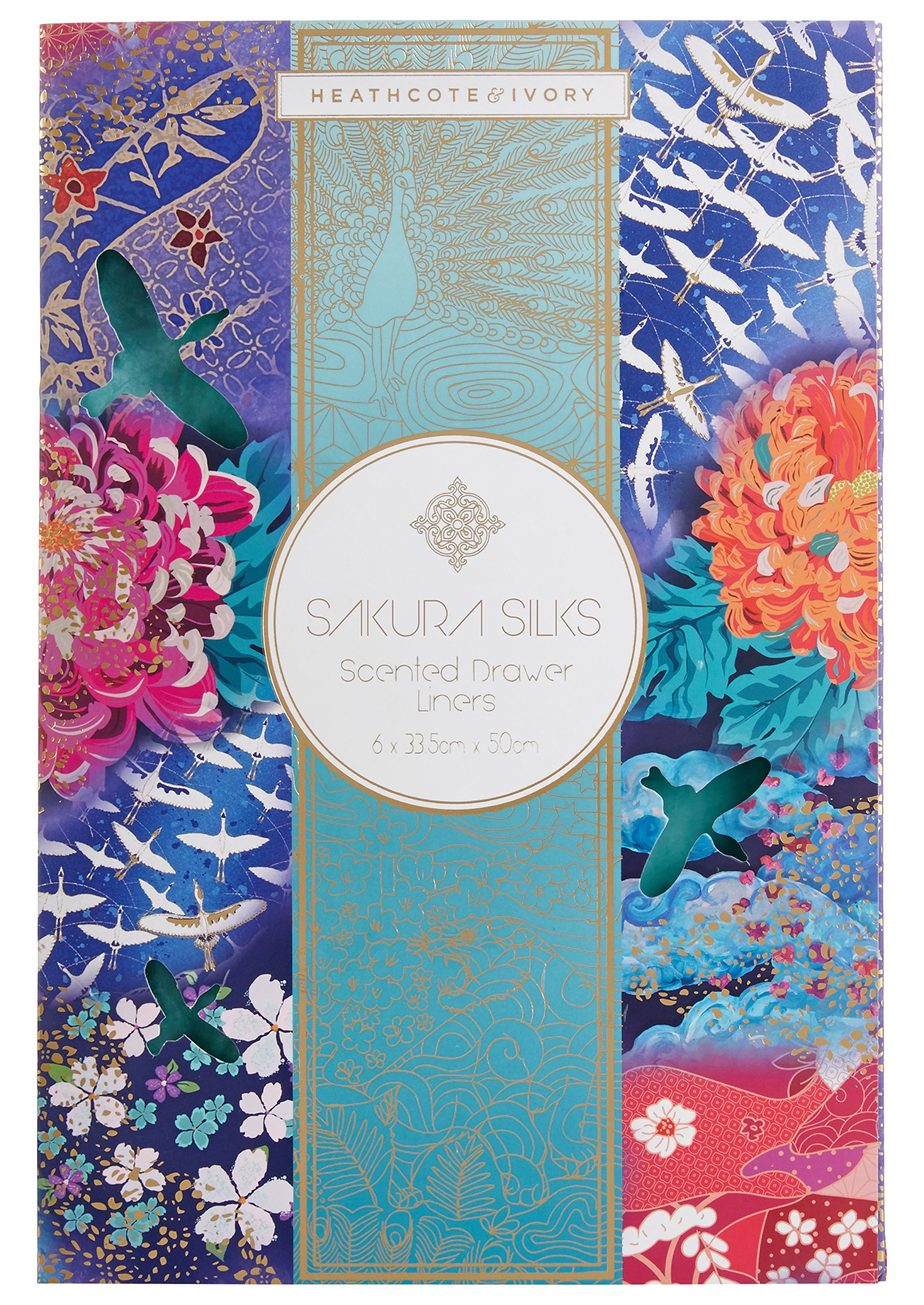 Heathcote & Ivory Sakura Silks Scented Drawer Liners