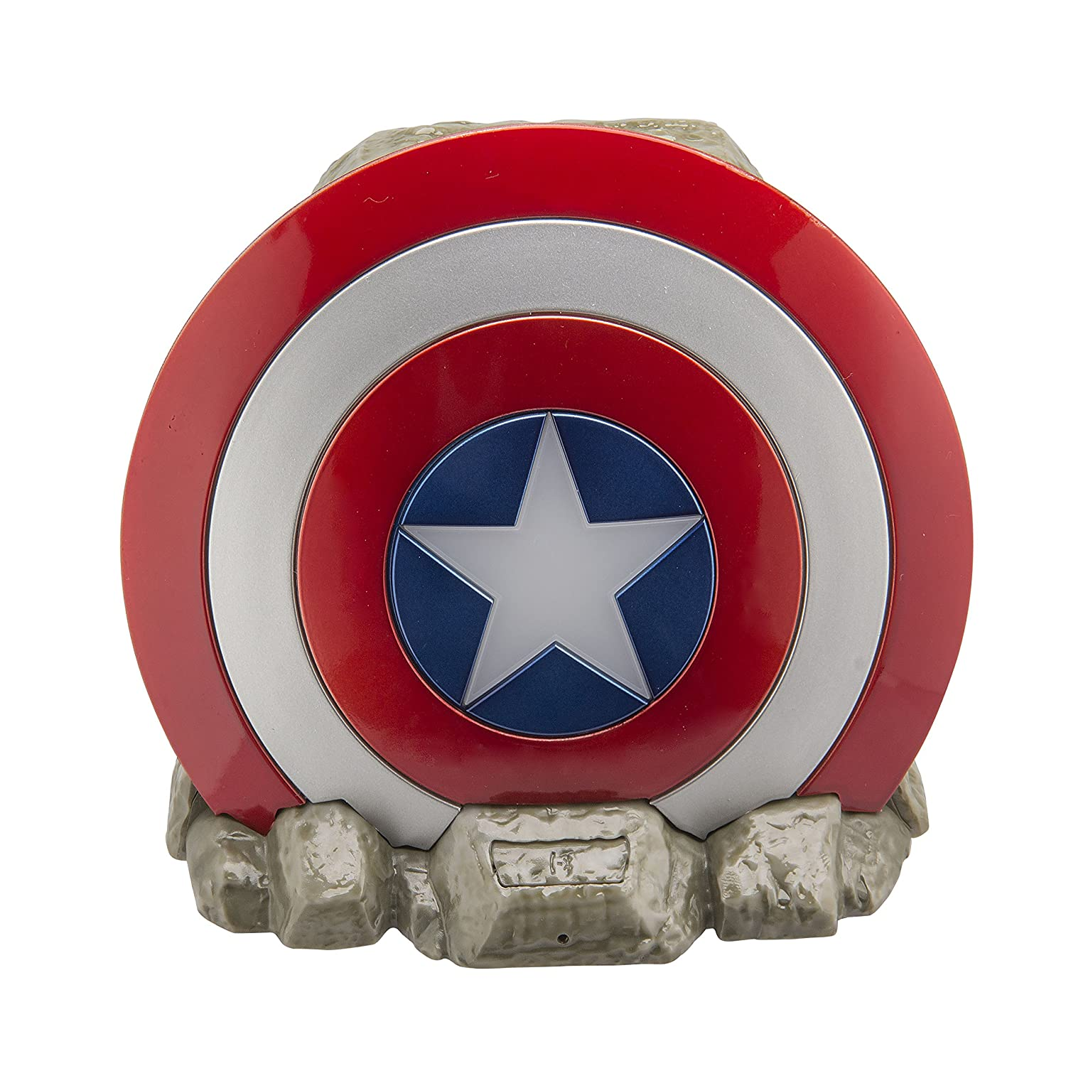 Ekids VI b72ca Marvel Captain America Shield Wireless Bluetooth Altoparlante Portatile Rosso/Bianco Vi-B72CA