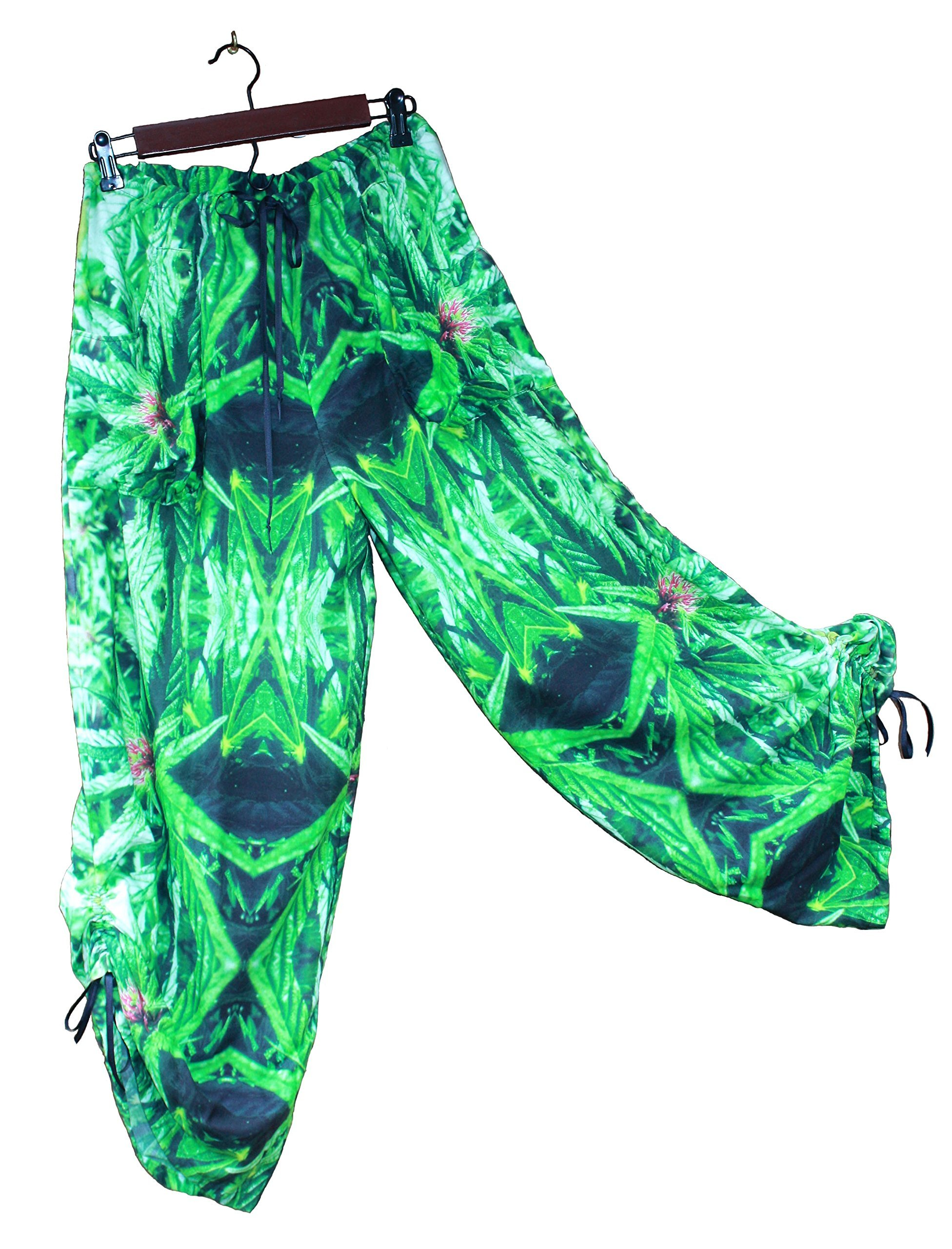 Hawaiian Floral Harem Pants Blue Widow Wedding Resort Beachwear XL/XXL