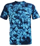Tie Dye Turquise Blue / Navy Scrunch 701703 T-Shirt