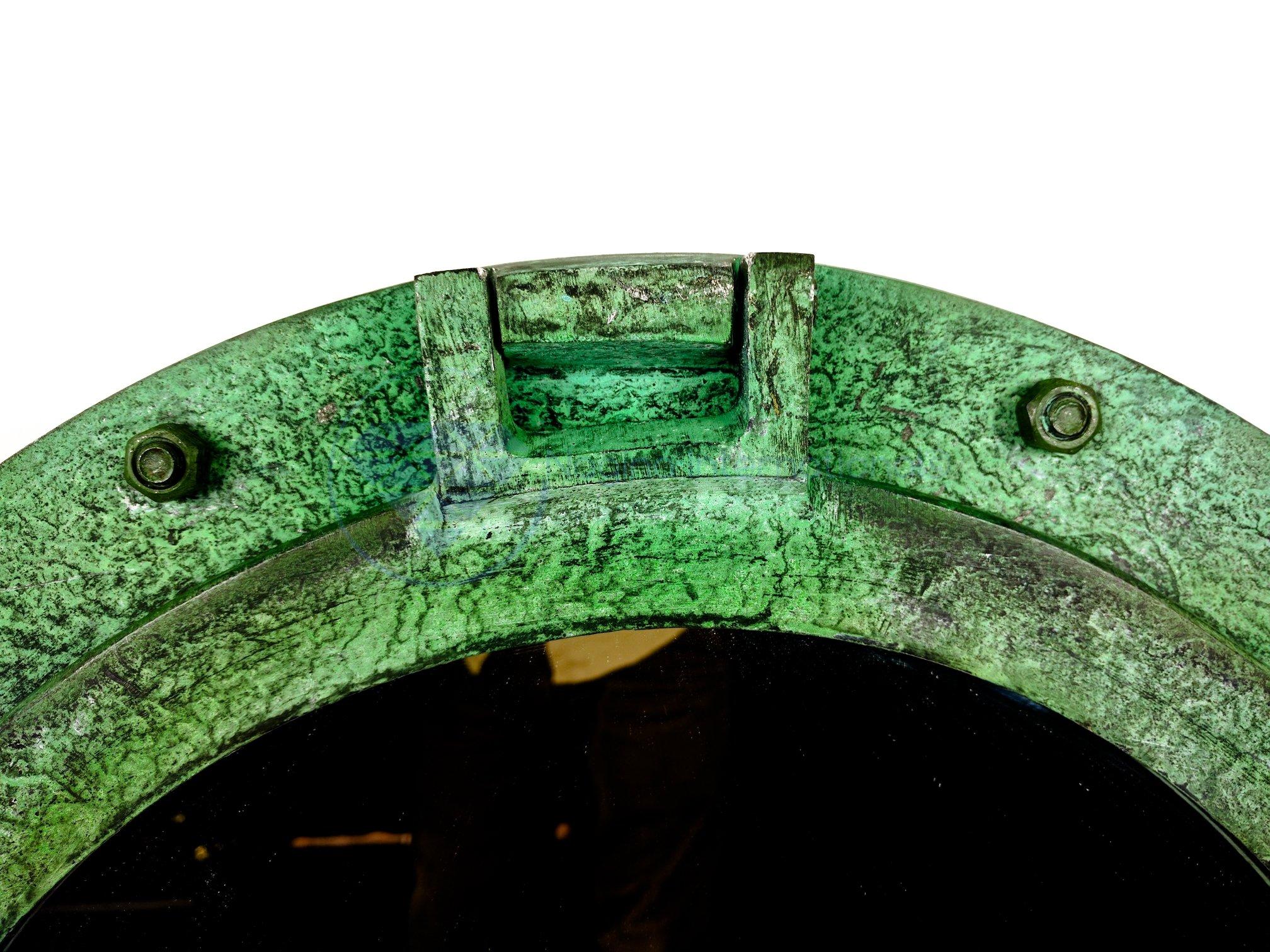 20'' Shipwrecked Premium Aluminum Antique Algae Green Porthole Mirror | Retirement Gift | Nagina International by Nagina International (Image #8)