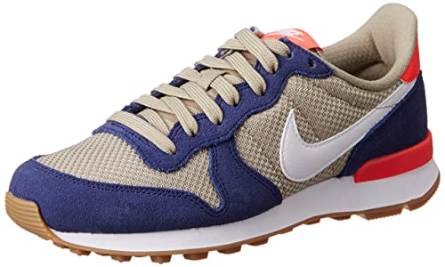 finest selection 12a0e 8a90a Nike WMNS Internationalist 828407-408 Loyal BlueBambooWhite Womens Shoes  (Size 9. 5) Buy Online at Low Prices in India - Amazon.in