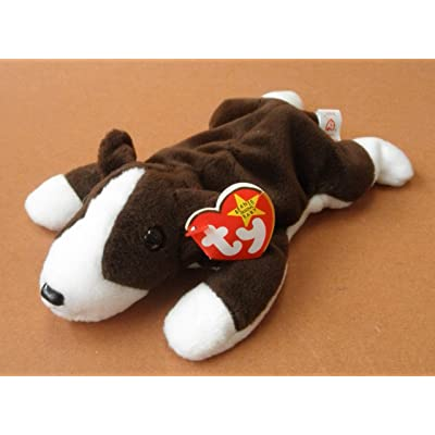 TY Beanie Babies Bruno the Pit Bull Dog Plush Toy Stuffed Animal by Unknown: Toys & Games