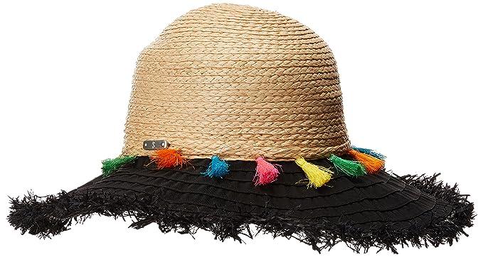 70c7dc59b67 San Diego Hat Company Women s RBL4825OS Ribbon Brim w Raffia Braid Crown  Black One Size
