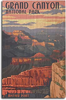 product image for Lantern Press Grand Canyon National Park, Arizona - Mather Point (10x15 Wood Wall Sign, Wall Decor Ready to Hang)