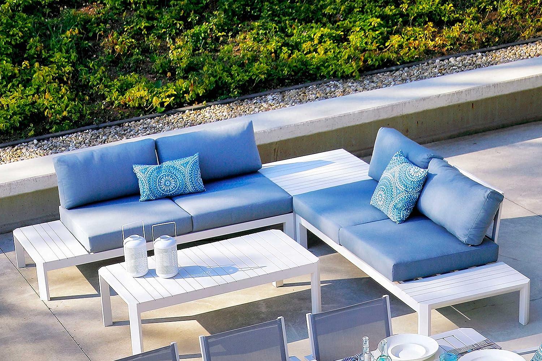 Amazon.de: Hartman Loungeset Cayman, Gartenlounge in weiß/mussel ...