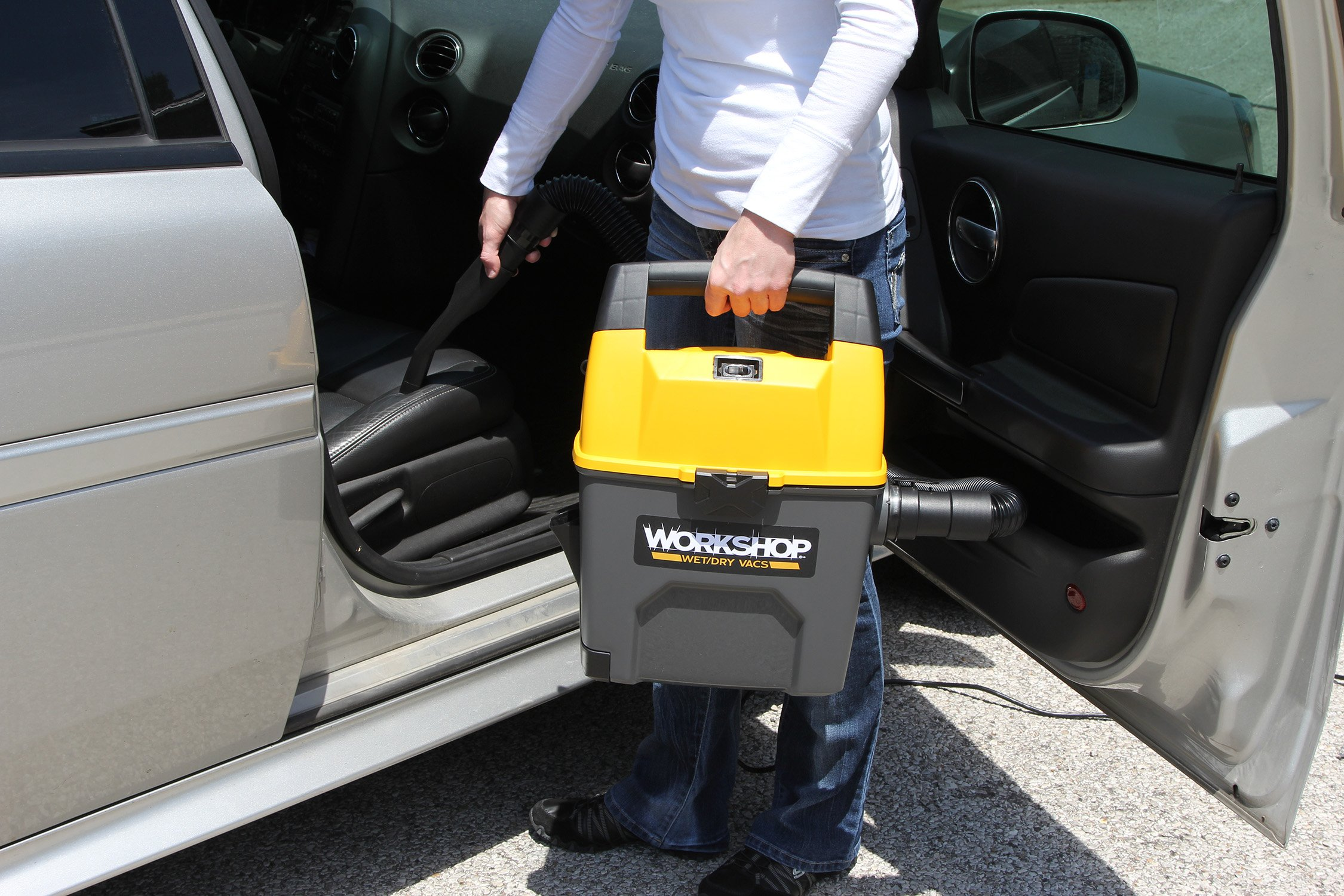 WORKSHOP Wet Dry Vac WS0301VA Portable Wet Dry Vacuum Cleaner For Car, 3-Gallon Wet Dry Auto Vacuum Cleaner, 3.5 Peak HP Portable Auto Vacuum With Accessories For Car Cleaning by WORKSHOP Wet/Dry Vacs (Image #6)