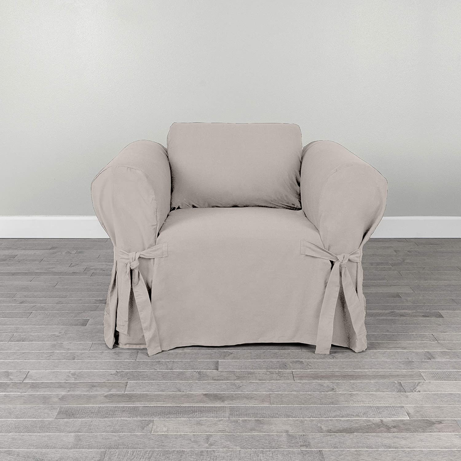 Magnificent Serta Relaxed Cotton Duck Slipcover Collection Fits Most Box Cushion Chairs Measuring Up To 24 White Ncnpc Chair Design For Home Ncnpcorg