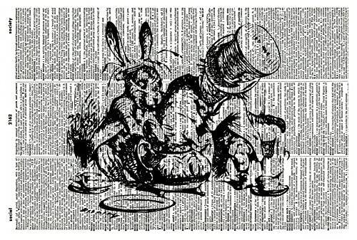 Mad Tea Party Clip Art Black and White