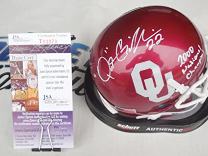 13b5b62a6 Image Unavailable. Image not available for. Color  Quintin Griffin Signed  Oklahoma OU Sooners Mini Helmet ...