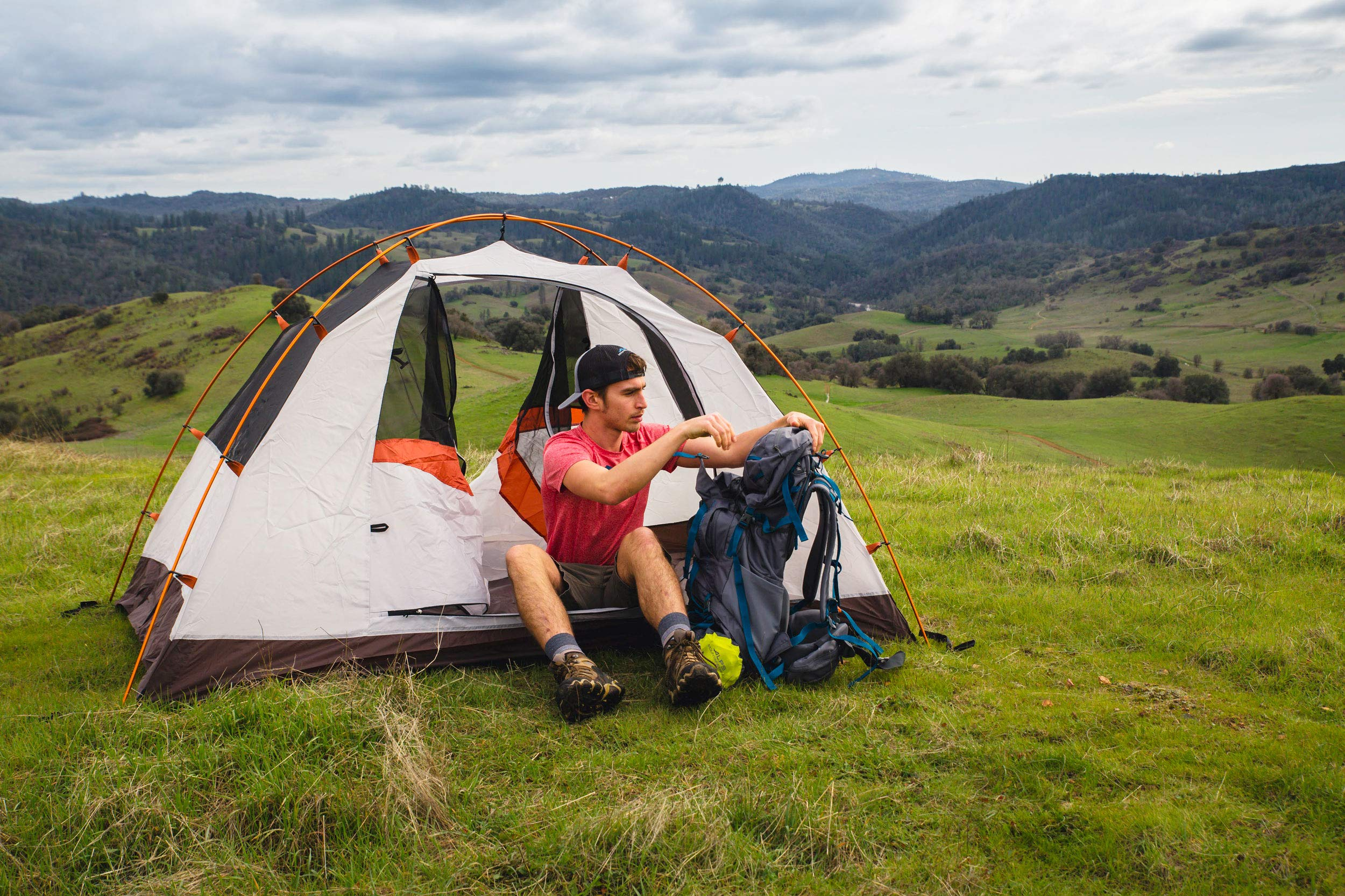 ALPS Mountaineering Lynx 4-Person Tent, Clay/Rust by ALPS Mountaineering (Image #13)