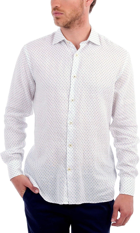 Blue coast yachting Camisa Hombre Lino Blanco S: Amazon.es: Ropa y accesorios