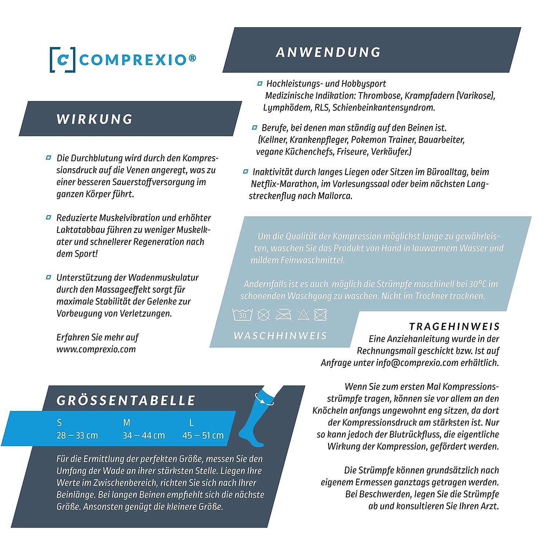 Comprexio® Sport Kompressionsstrümpfe »Silver Fit« mit medizinisch ...