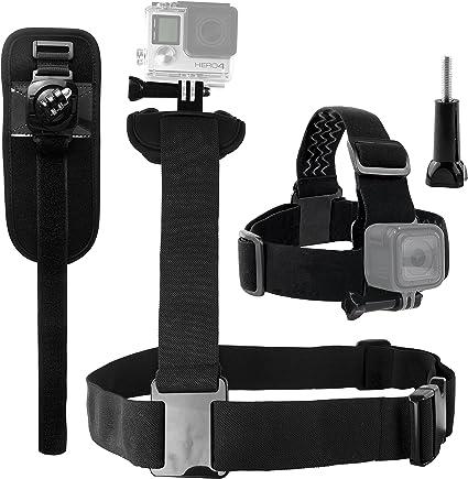 Vite a Galletto Tutti gli accessori sono completamente compatibili CamKix Kit Montature Compatible con GoPro Borsa Montatura Rotante da Polso Imbracatura Torso Gancio a J Montatura da Testa