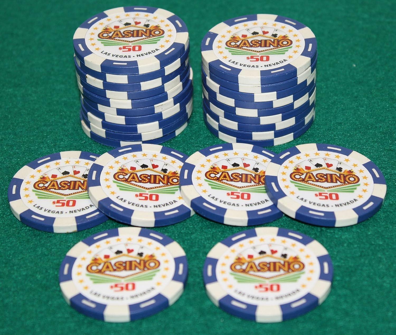 QTY: 25 $50 Pro Vegas Casino Chips *Super High Quality* Poker Chip 11.5 Grams