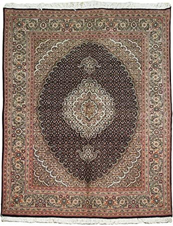 Amazon Com 5x6 Black Mahi Wool Silk Hand Knotted Original Persian Area Rug Furniture Decor