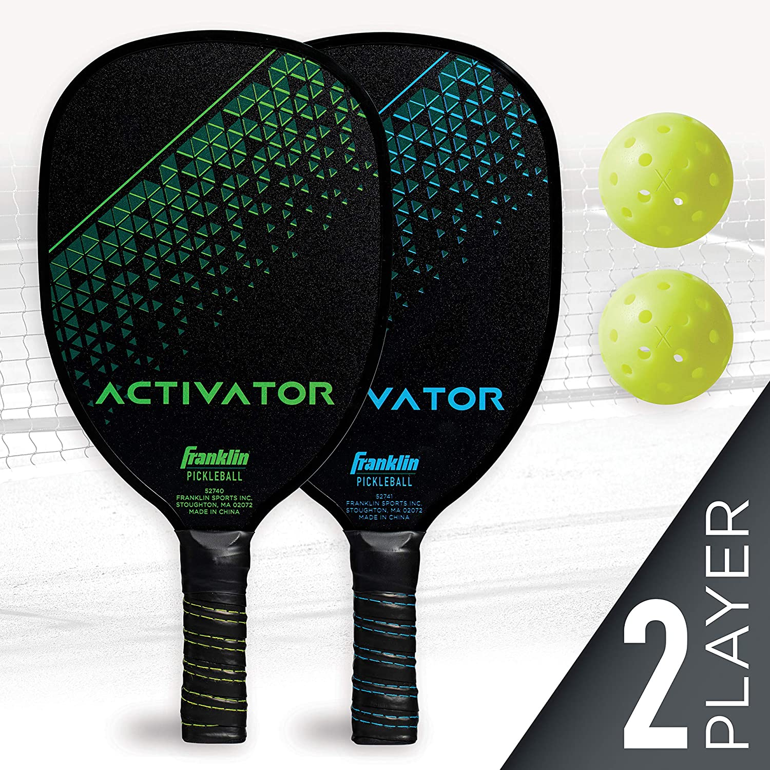 Franklin Sports Pickleball Paddle and Ball Set - Wooden - Activator - 2 Player - USAPA Approved : Sports & Outdoors