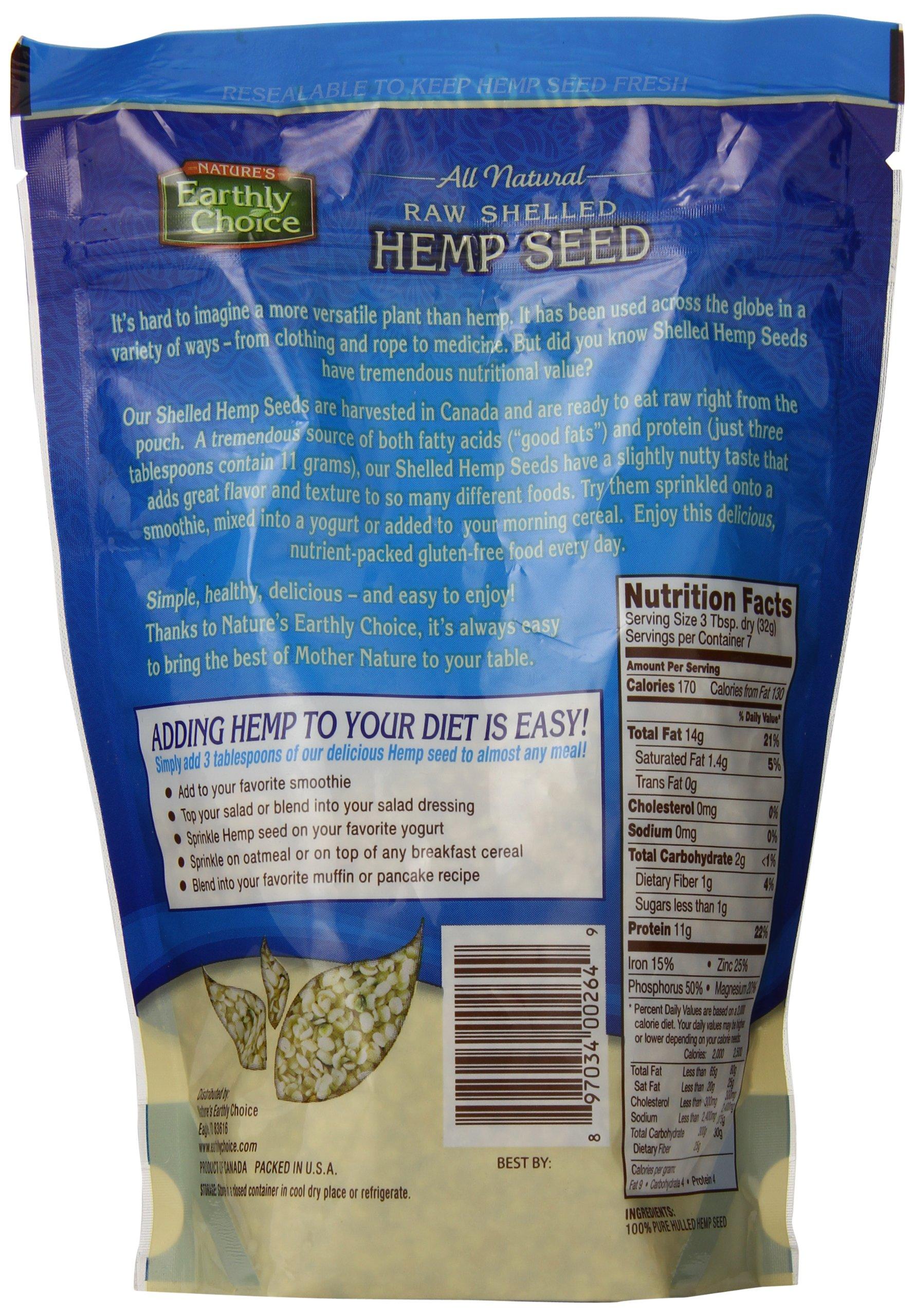 Nature's Earthly Choice Shelled Hemp Seed, 8 Ounce by Nature's Earthly Choice (Image #3)
