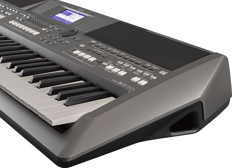 Yamaha Teclado digital PSR-S670 - Instrumento de rendimiento diseñado para profesionales y escenarios de música en vivo, 61 teclas sensibles al tacto, ...