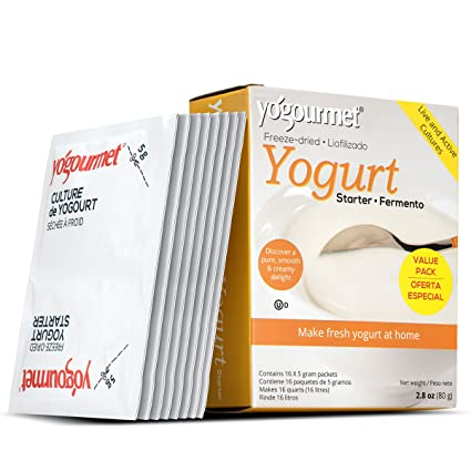 Yogourmet Freeze Yogurt Starter seco, caja de 1 onza: Amazon ...