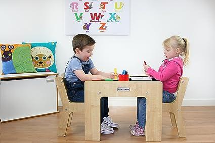 Little Helper FunStation Duo - Mesa para niños y Juego de 2 sillas, 24m+, Color Negro: Amazon.es: Juguetes y juegos