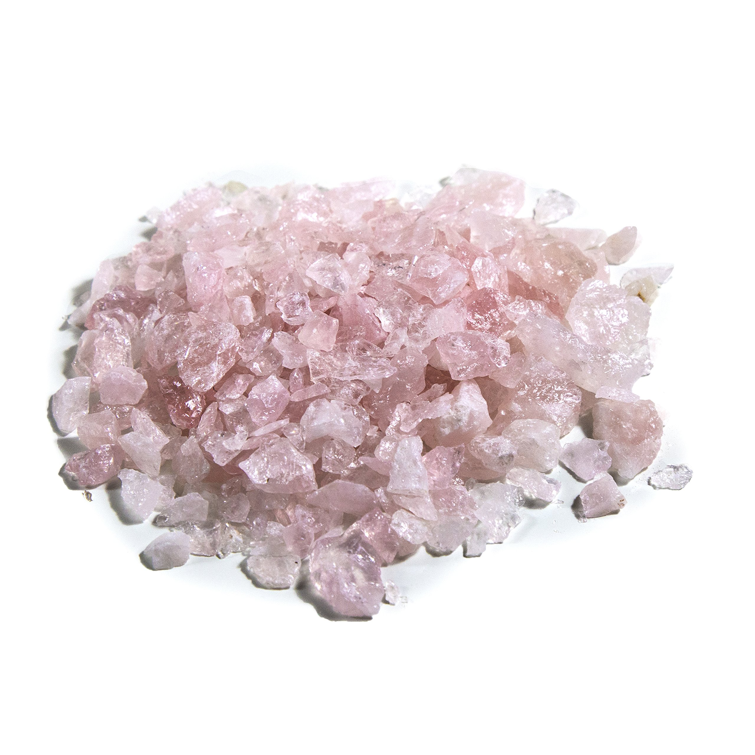 1 lb Bulk Rose Quartz Rough Stones - Natural Raw Stones Mix & Fountain Rocks for Tumbling, Cabbing, Polishing, Wire Wrapping, Wicca & Reiki Crystal Healing