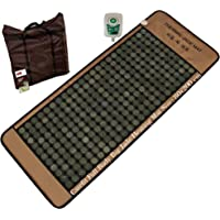 Carefit Leather Full Body Big Jade Stone Heating Infrared Care Mattress with Mesh Cover, 80x188cm (Green Jade)