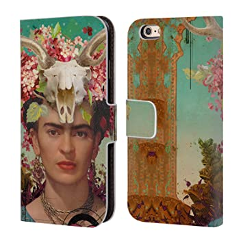 Oficial Duirwaigh Frida Kahlo carcasa tipo Cartera de piel Para Apple iPhone Teléfonos: Amazon.es: Electrónica