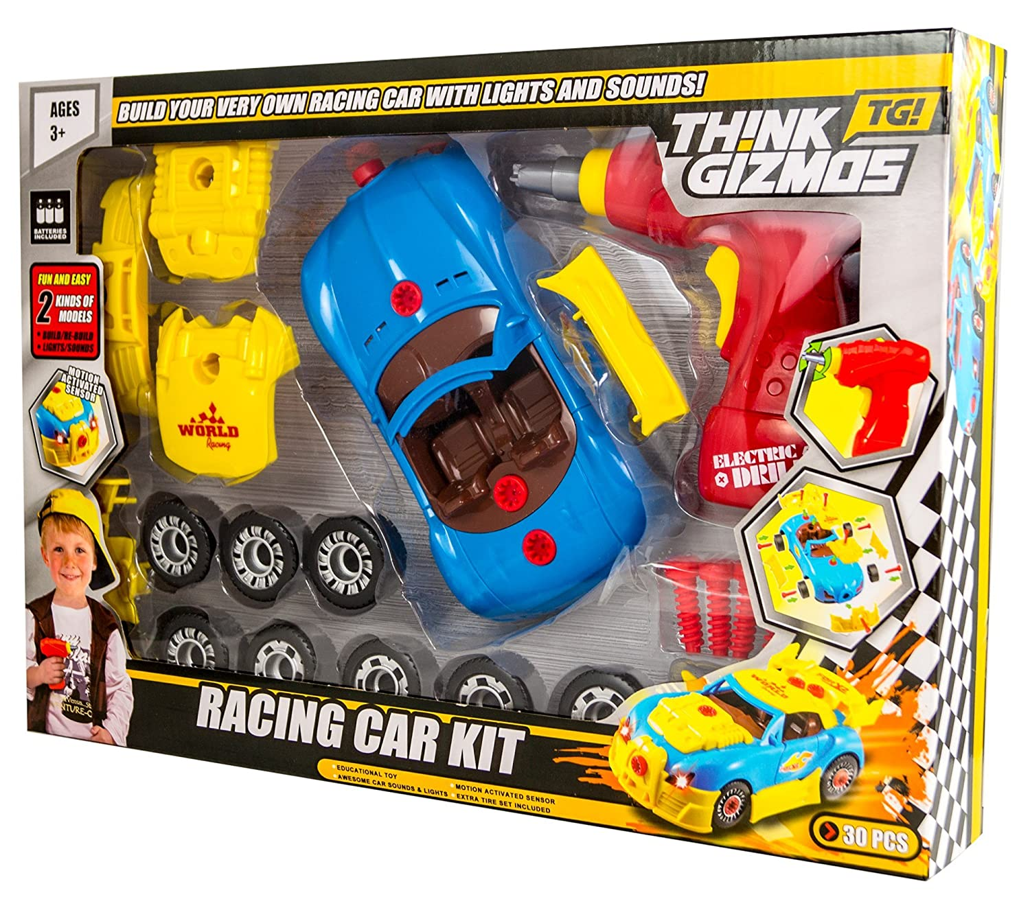 amazoncom take apart toy racing car kit for kids tg642 build your own car kit construction set version 2 30 take a part pieces with realistic