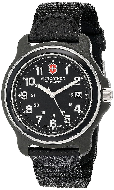 Victorinox Damen-Armbanduhr 42mm Armband Nylon Schwarz GehÄuse Vergoldetes Edelstahl Batterie 249087