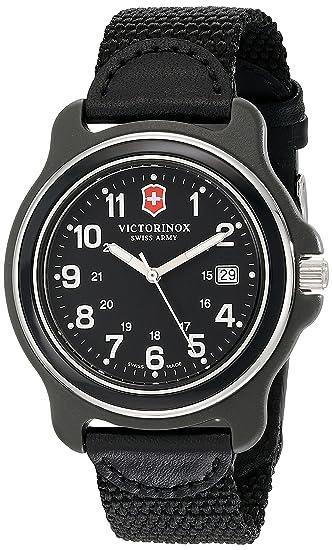 Victorinox 249087 - Reloj de pulsera hombre, Nailon, color Negro: Amazon.es: Relojes