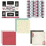 Scrapbook Customs Aduanas de álbumes Papeles temáticos y Adhesivos álbum de Recortes, Amor