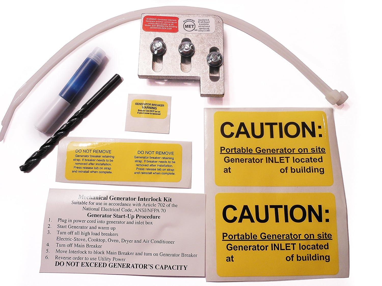 EAT-BR200A Cutler Hammer or Challenger Generator Interlock Kit BR Series ONLY 150 or 200 amp Panels Geninterlock.com